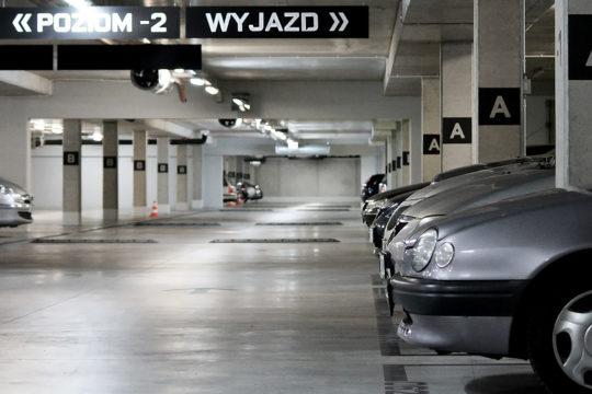 Parking podziemny dwukondygnacyjny przy Hali Stulecia we Wrocławiu